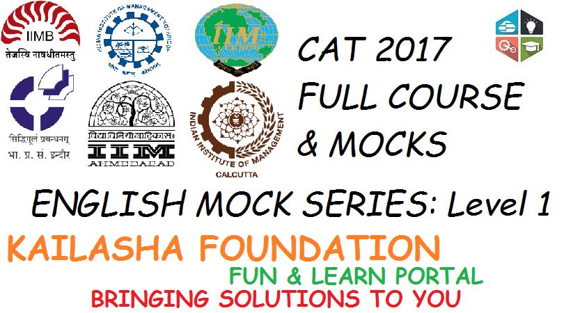 CAT ENGLISH MOCK 1 LEVEL – I
