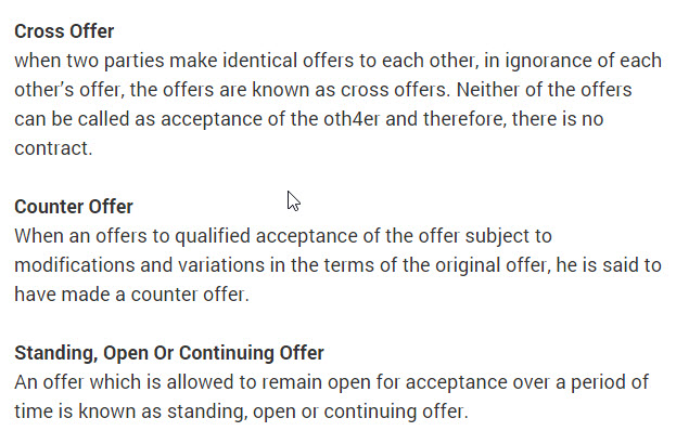 cross and counter offer
