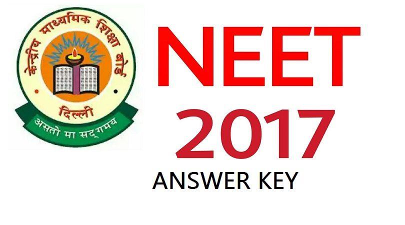 NEET ANSWER KEY – 7th May, 2017