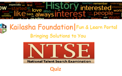 NTSE (National Talent Search Exam) Quizzes