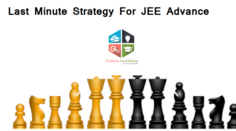 JEE ADVANCE LAST MINUTE STRATEGY