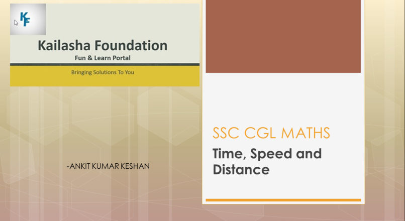 TIME, SPEED AND DISTANCE