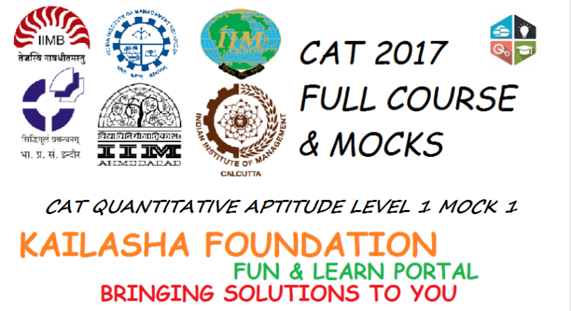 CAT QUANTITATIVE APTITUDE LEVEL 1 MOCK 1