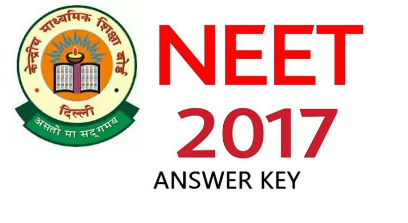 NEET ANSWER KEY – 7th May, 2017