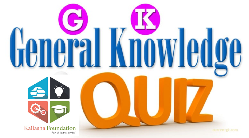 DAILY GK COURSE QUIZ 243: 10 Questions for your daily GK dose - Kailasha Foundation