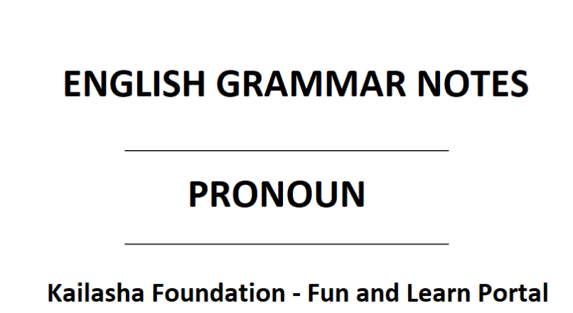 Pronoun – English Grammar Notes