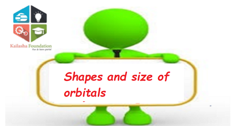 Shapes and size of orbitals