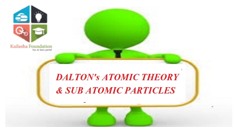 DALTON's ATOMIC THEORY & SUB ATOMIC PARTICLES